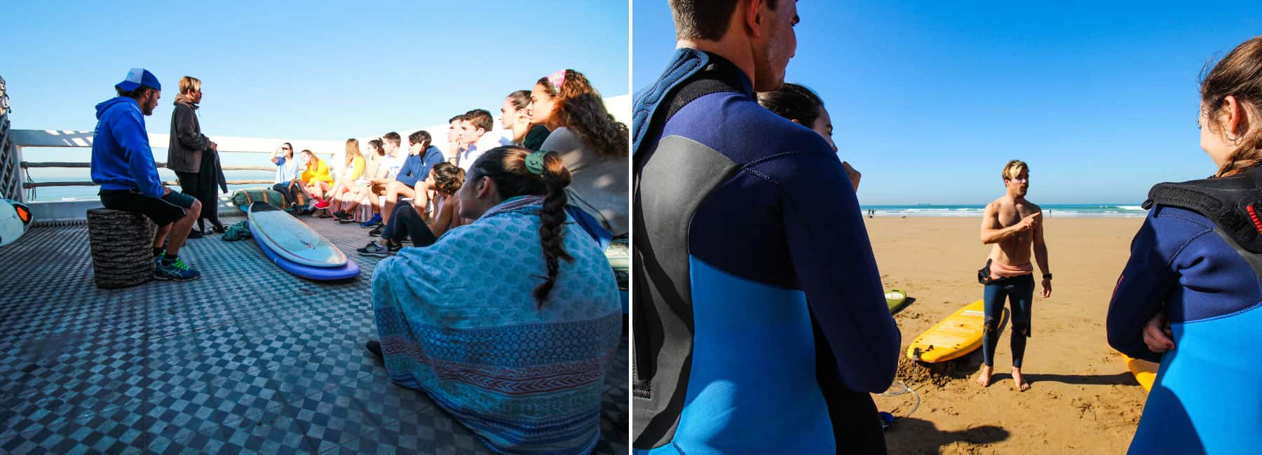 basic surf lessons at blue waves morocco