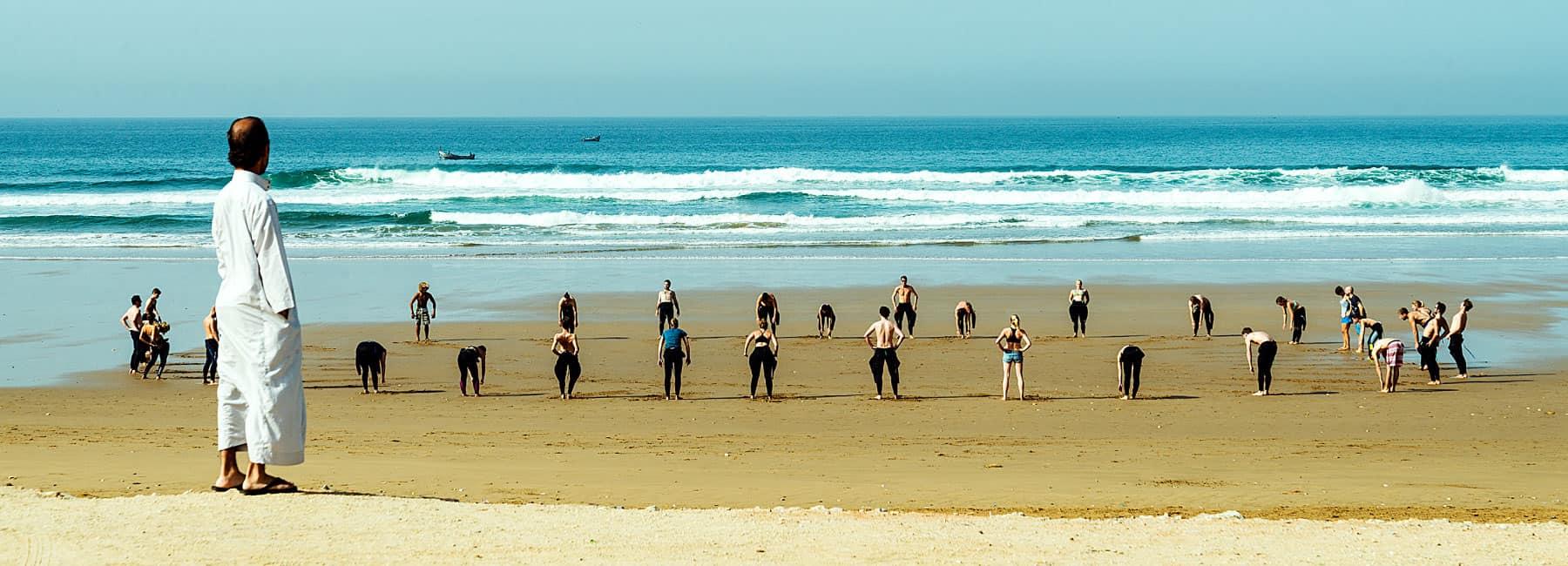 cours de surf débutant Blue Waves Maroc