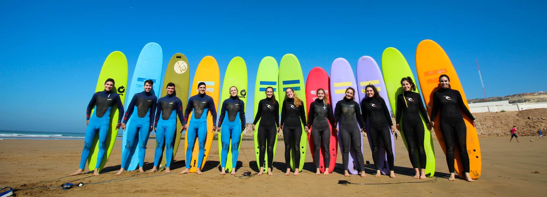 group surf lessons blue waves surf school