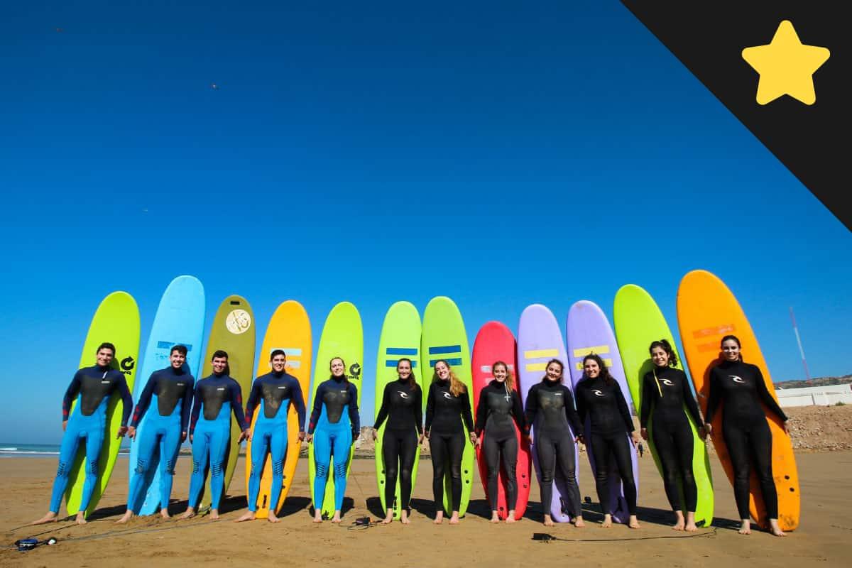 Clases de Surf en nuestro surf camp