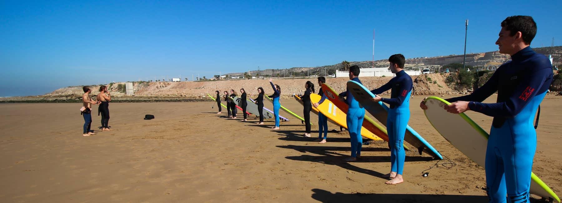 cours de surf à Blue Wave Surf School Anza Beach
