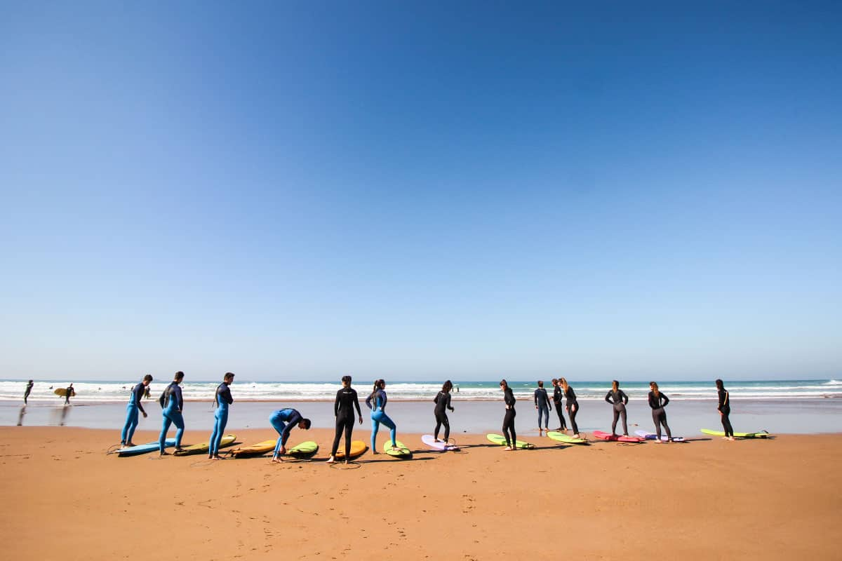 surf lessons in blue waves packs
