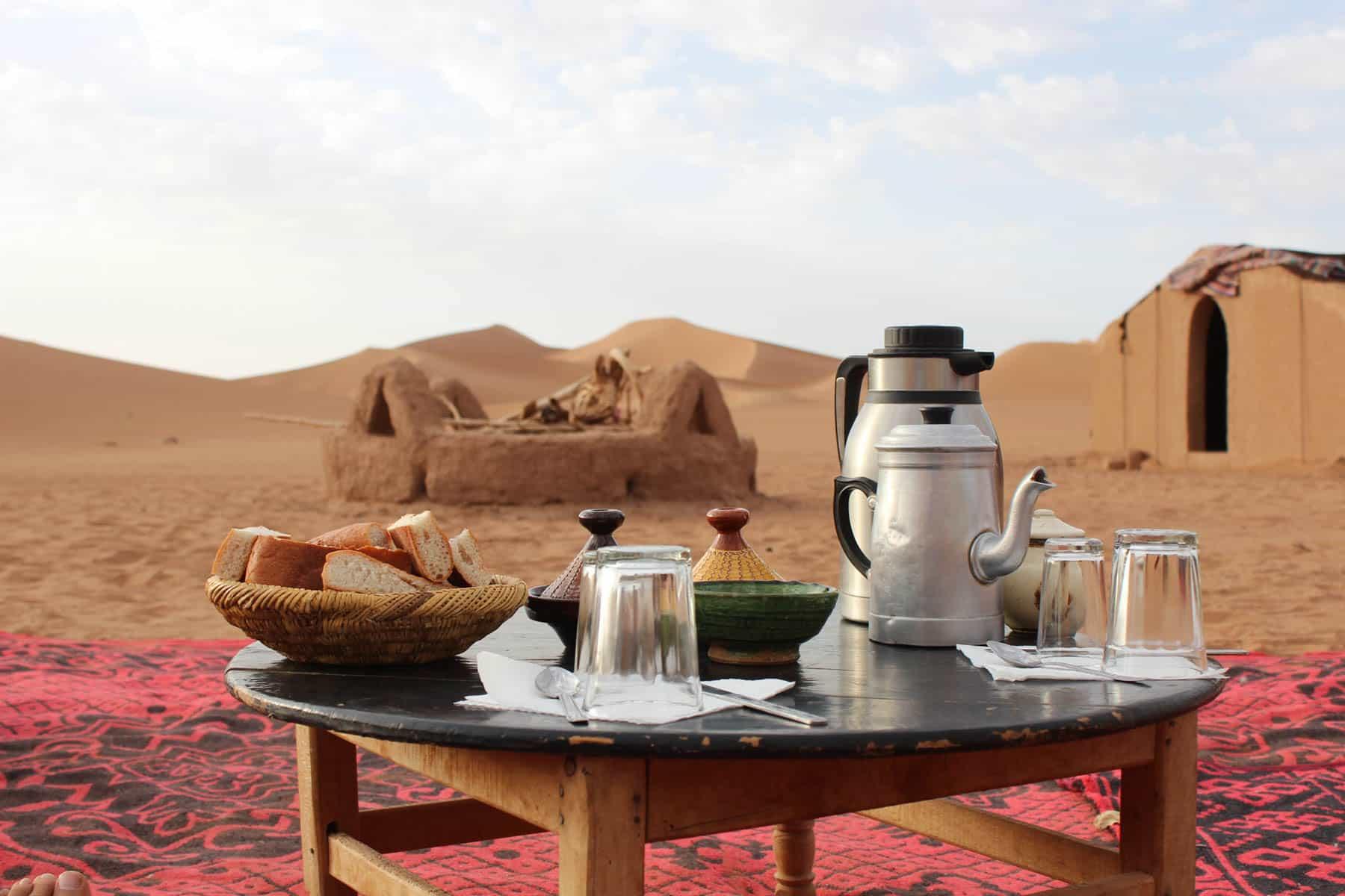 TEA IN ZAGORA DESERT
