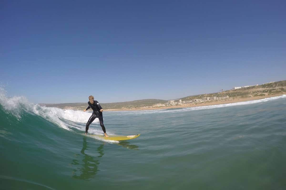 surf lessons in blue waves morocco