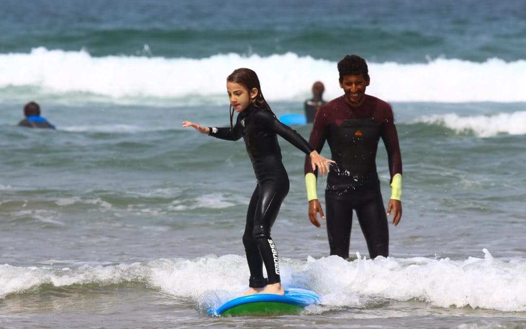 Surfing kids