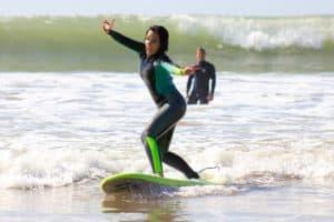 surfing student posing fun