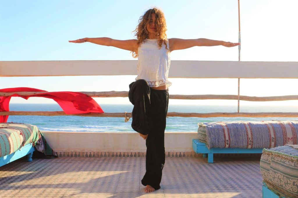 yoga style in Blue waves surf house