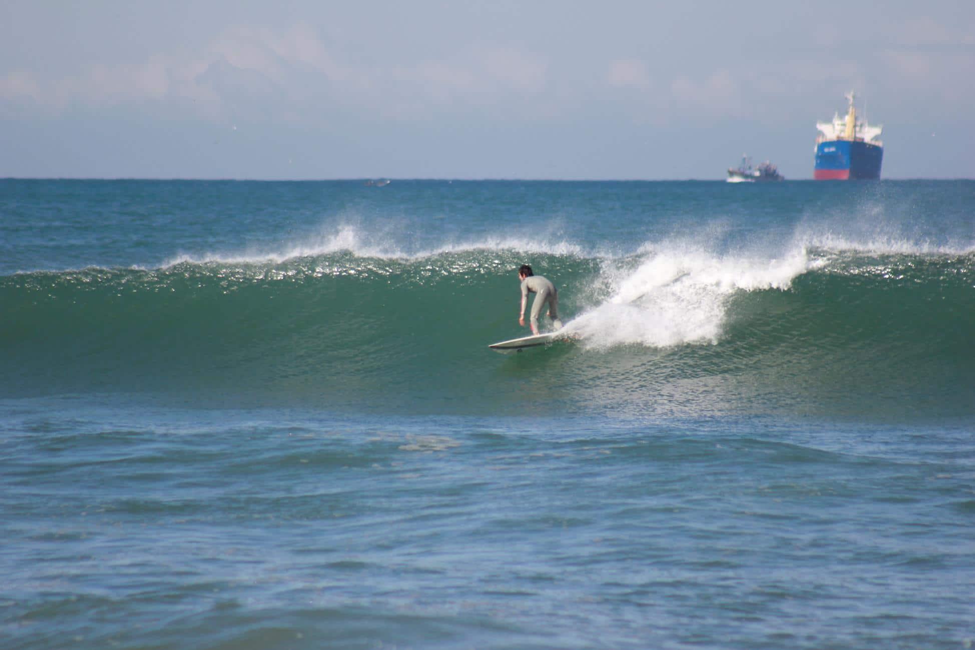 Surfing in Blue Waves Anza
