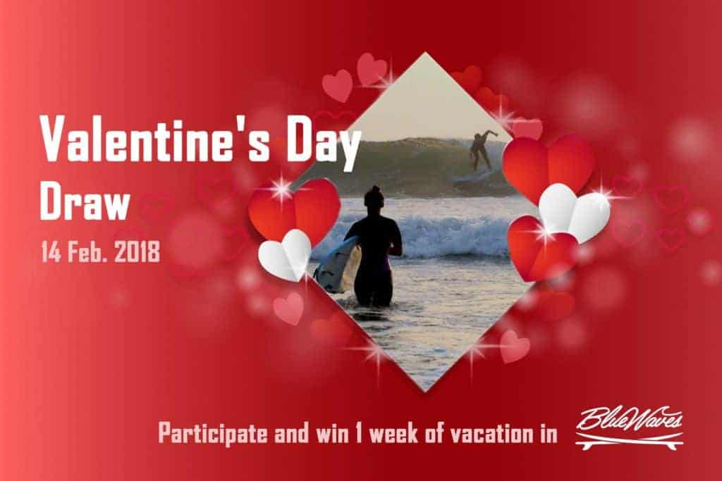 Valentine S Day Draw Blue Waves Surf House